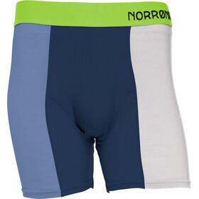 Norrøna Wool - Ropa interior Hombre - beige/azul